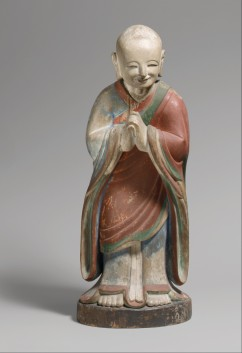 Kashyapa, dated 1700 Korea, Joseon dynasty (1392–1910) Wood with polychrome paint; H. 22 in. (55.9 cm); W. 9 in. (22.9 cm) The Metropolitan Museum of Art, New York, Gift of Abby Aldrich Rockefeller, 1942 (42.25.8) http://www.metmuseum.org/Collections/search-the-collections/49889